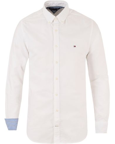 Tommy Hilfiger Ivy Oxford New York Fit Shirt White i gruppen Skjorter / Casual Skjorter hos Care of Carl (11443111r)