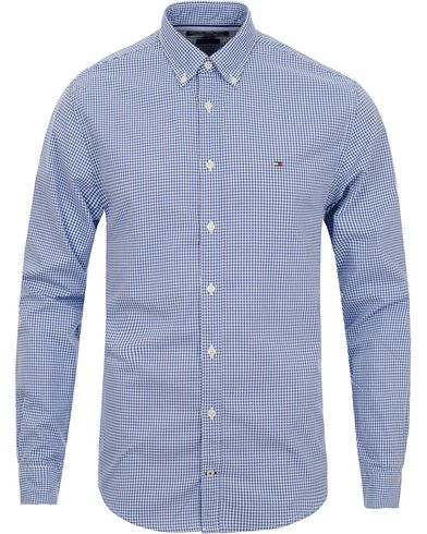 Tommy Hilfiger Ivy New York Fit Shirt Check Blue i gruppen Tøj / Skjorter / Casual skjorter hos Care of Carl (11443311r)