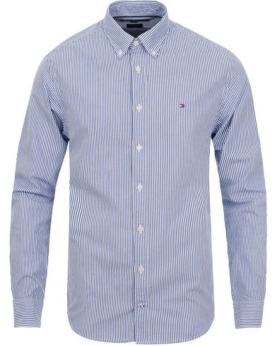 Tommy Hilfiger Ivy New York Fit Shirt Stripe Blue i gruppen Klær / Skjorter / Casual skjorter hos Care of Carl (11443411r)