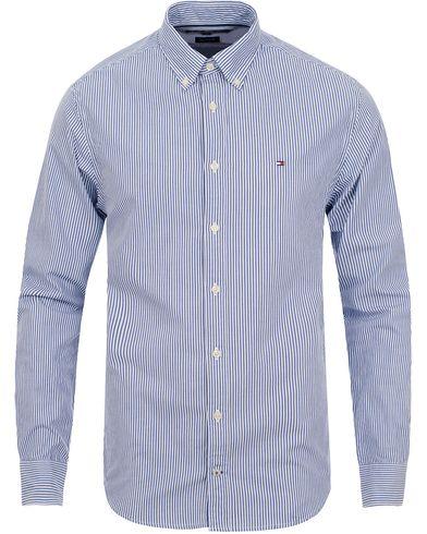 Tommy Hilfiger Ivy New York Fit Shirt Stripe Blue i gruppen Design A / Skjorter / Casual skjorter hos Care of Carl (11443411r)