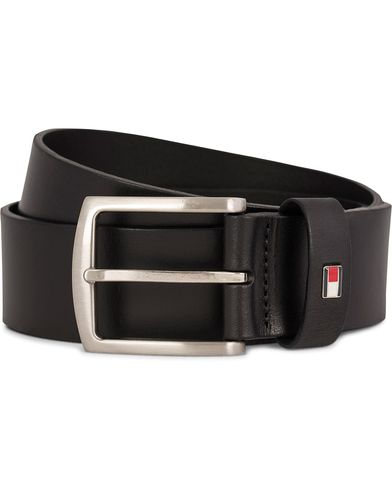 Tommy Hilfiger New Denton Belt 4 cm Black i gruppen Accessoarer / Bälten / Släta bälten hos Care of Carl (11444611r)