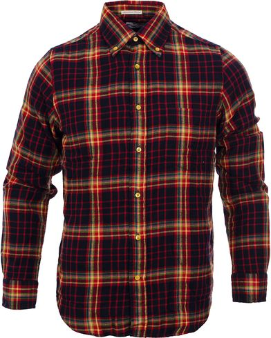 GANT Rugger Windblown Flannel Hogb Fit Button Down Shirt Rio Red i gruppen Skjortor / Casual skjortor hos Care of Carl (11468511r)