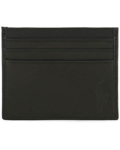 Polo Ralph Lauren Pebble Leather Slim Card Case Black  i gruppen Accessoarer / Plånböcker hos Care of Carl (11470510)