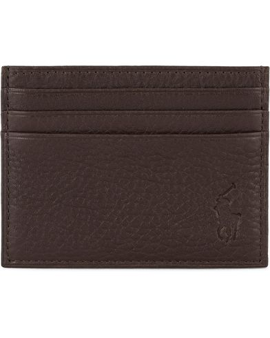 Polo Ralph Lauren Pebble Leather Slim Card Case Brown  i gruppen Assesoarer hos Care of Carl (11470610)