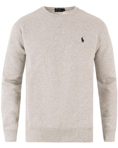 Polo Ralph Lauren Crew Neck Sweatshirt Light Grey Heather i gruppen Design A / Trøjer / Sweatshirts hos Care of Carl (11483411r)
