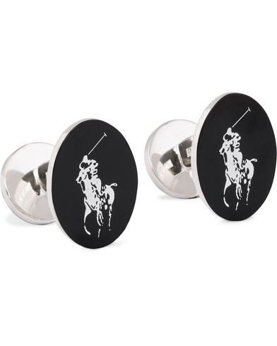Polo Ralph Lauren Pony Cufflinks White/Black  i gruppen Assesoarer / Mansjettknapper hos Care of Carl (11487710)