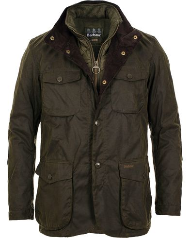 Barbour Lifestyle Ogston Waxed Jacket Olive i gruppen Klær / Jakker / Voksede jakker hos Care of Carl (11499311r)