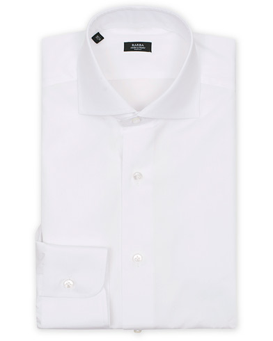 Barba Napoli Slim Fit Shirt White i gruppen Skjortor / Formella skjortor hos Care of Carl (11511411r)