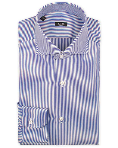 Barba Napoli Slim Fit Shirt Stripe Navy i gruppen Skjorter / Formelle skjorter hos Care of Carl (11511711r)