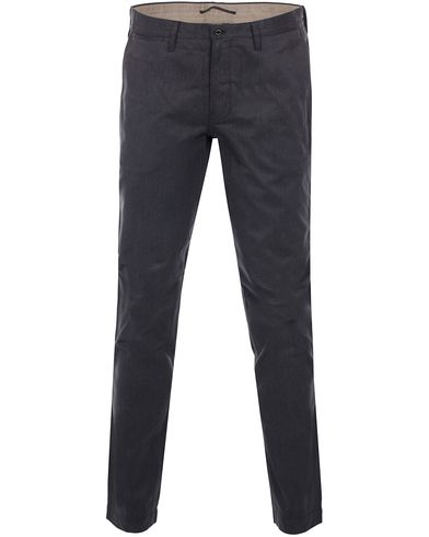 J.Lindeberg Chaze Flannel Twill Chino Grey i gruppen Byxor / Flanellbyxor hos Care of Carl (11539111r)
