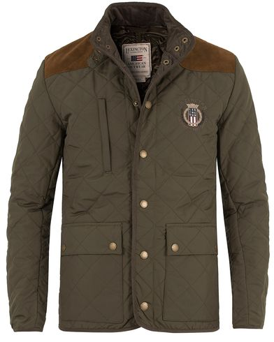 Lexington David Jacket Hunter Green i gruppen Jackor / Quiltade jackor hos Care of Carl (11543811r)