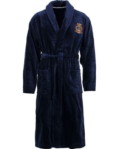 Lexington Velour Bathrobe Blue i gruppen Undertøy / Morgenkåper hos Care of Carl (11547011r)