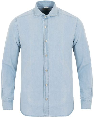 Stenströms Slimline Light Denim Shirt Garment Wash i gruppen Klær / Skjorter / Jeansskjorter hos Care of Carl (11556811r)