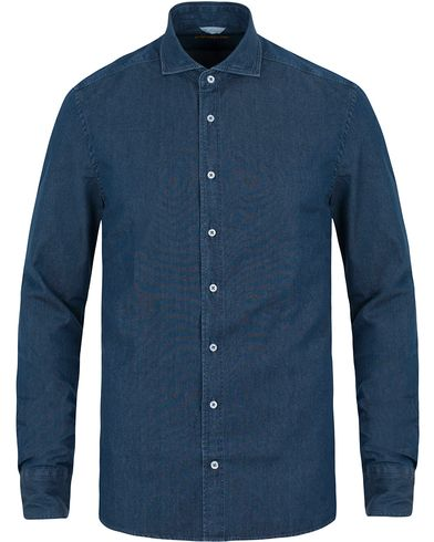 Stenströms Slimline Dark Denim Shirt Garment Wash i gruppen Skjorter / Jeansskjorter hos Care of Carl (11556911r)