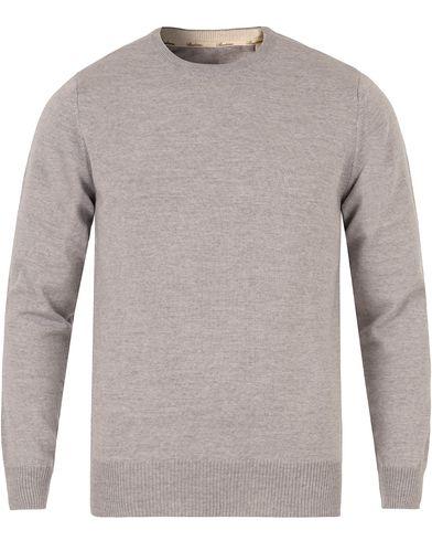 Stenströms Merino Crew Neck Pullover Light Grey i gruppen Klær / Gensere / Pullover / Pullovere rund hals hos Care of Carl (11557811r)