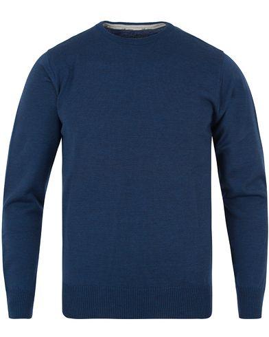 Stenströms Merino Crew Neck Pullover Denim Blue i gruppen Tröjor / Pullovers / Rundhalsade pullovers hos Care of Carl (11557911r)