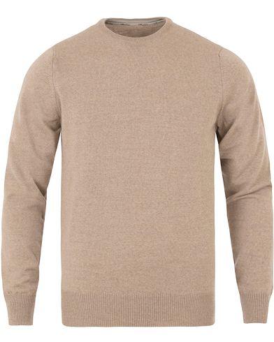 Stenströms Merino Crew Neck Pullover Beige i gruppen Tröjor / Pullovers / Rundhalsade pullovers hos Care of Carl (11558011r)