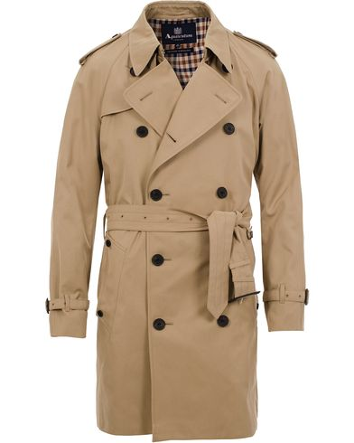 Aquascutum Corby Double Breasted Trenchcoat Camel i gruppen Jakker / Frakker hos Care of Carl (11577511r)