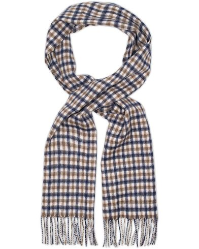 Aquascutum Club Check Wool Scarf Vicuna  i gruppen Tilbehør / Halstørklæder hos Care of Carl (11578810)