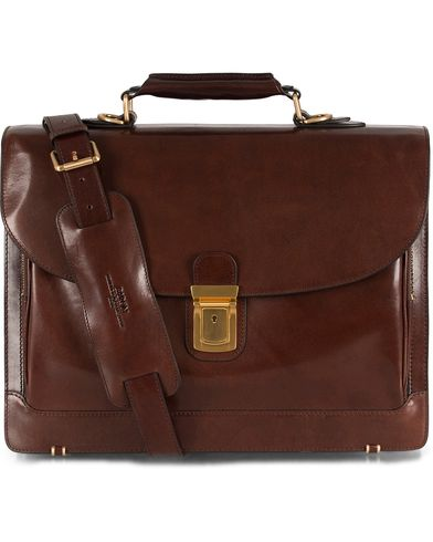 Baron Classic Briefcase Brown Leather  i gruppen Vesker / Dokumentvesker hos Care of Carl (11579310)