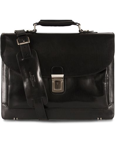Baron Classic Briefcase Black Leather  i gruppen Tasker / Mappetasker hos Care of Carl (11579410)