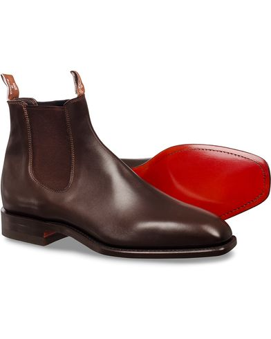R.M.Williams Craftsman Signature G Boot Calf Chestnut i gruppen Design A / Sko / Støvler / Chelsea boots hos Care of Carl (11583411r)