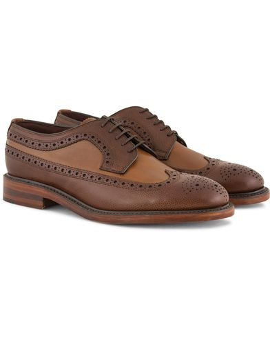 Loake 1880 Taunton Brogue Dark Brown Grain Calf i gruppen Design A / Sko / Brogues hos Care of Carl (11583911r)