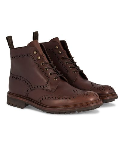 Loake 1880 Mulligan Brogue Boot Brown Waxy Leather i gruppen Sko / Støvler / Snørestøvler hos Care of Carl (11584211r)