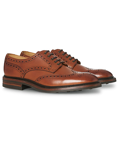 Loake 1880 Chester Dainite Brogue Mahogany Burnished Calf i gruppen Sko / Brogues hos Care of Carl (11613411r)