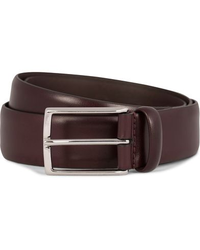 Anderson's Leather Belt 3,5 cm Oxblood i gruppen Assesoarer / Belter / Umønstrede belter hos Care of Carl (11614511r)