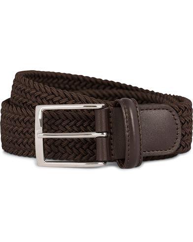 Anderson's Elastic Textile Belt 3,5 cm Brown i gruppen Assesoarer / Belter / Flettede belter hos Care of Carl (11614611r)