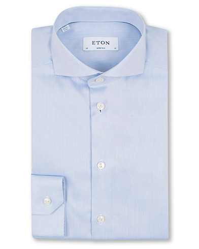 Eton Super Slim Fit Shirt Blue i gruppen Skjorter / Formelle skjorter hos Care of Carl (11615411r)