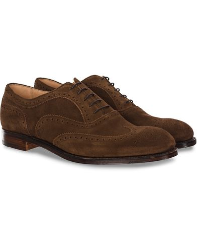 Cheaney Arthur III Brogue Brown Plough Suede i gruppen Sko / Brogues hos Care of Carl (11624111r)