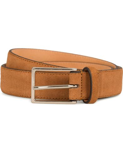 Oscar Jacobson Suede Belt 3 cm Brown i gruppen Accessoarer hos Care of Carl (11629411r)