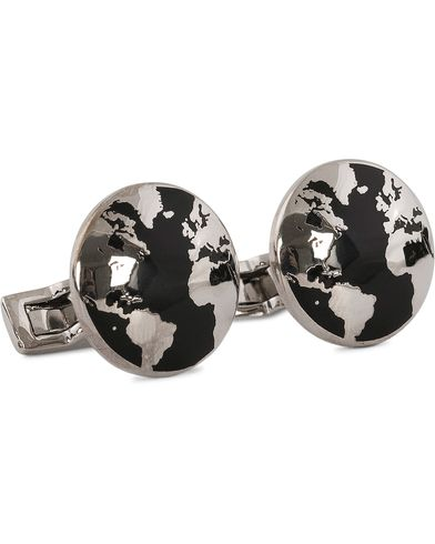 Skultuna Cuff Links World Traveler Black  i gruppen Tilbehør / Manchetknapper hos Care of Carl (11630010)