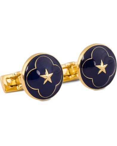 Skultuna Cuff Links Polar Star Royal Blue  i gruppen Accessoarer / Manschettknappar hos Care of Carl (11631610)