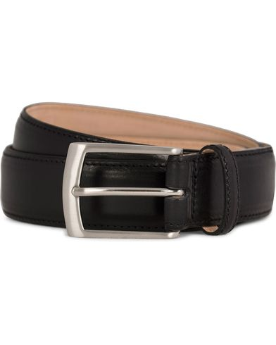 Loake 1880 Henry Leather Belt 3,3 cm Black i gruppen Accessoarer / Bälten / Släta bälten hos Care of Carl (11631711r)