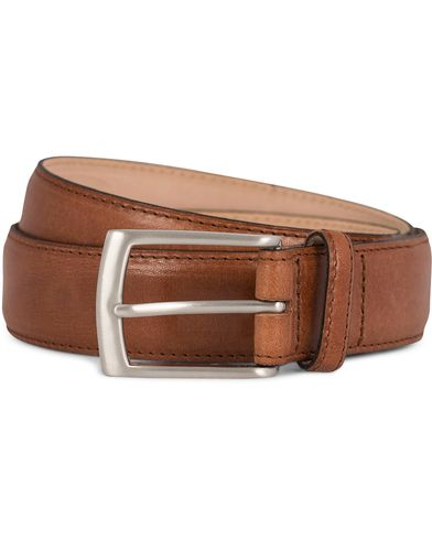 Loake 1880 Henry Leather Belt 3,3 cm Brown i gruppen Tilbehør / Bælter / Blanke bælter hos Care of Carl (11631811r)