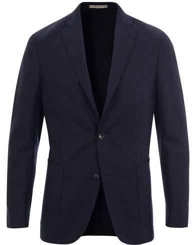 Boglioli Dover Patch Pocket Wool Blazer Navy i gruppen Klær / Dressjakker / Enkeltspente dressjakker hos Care of Carl (11632711r)