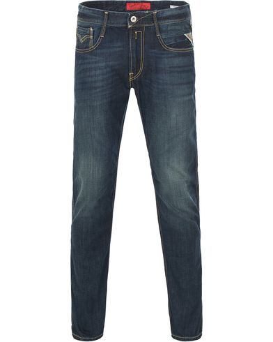Replay M914 Anbass Jeans Dark Blue i gruppen Jeans / Avsmalnande jeans hos Care of Carl (11700111r)