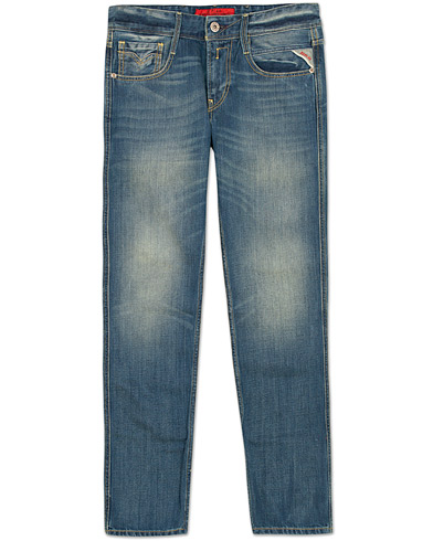 Replay M914 Anbass Jeans Blue i gruppen Jeans / Avsmalnende jeans hos Care of Carl (11700311r)
