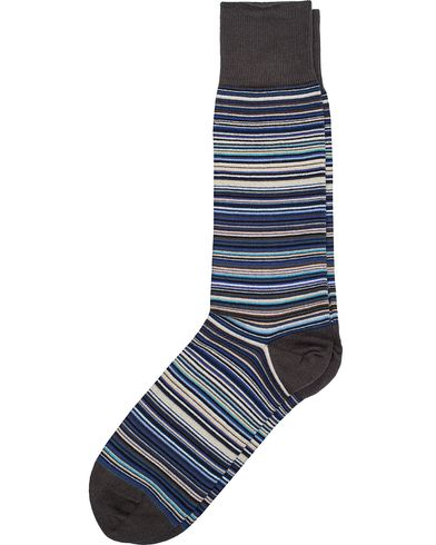 Paul Smith Multi Stripe Sock Sky Blue  i gruppen Design A / Undertøy / Sokker / Vanlige sokker hos Care of Carl (11719710)