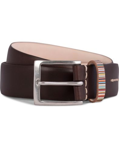 Paul Smith Piping 3,5 cm Belt Chocolate i gruppen Tilbehør / Bælter / Blanke bælter hos Care of Carl (11720611r)