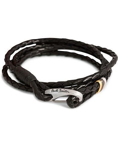 Paul Smith Leather Wrap Bracelet Black  i gruppen Accessoarer hos Care of Carl (11722110)