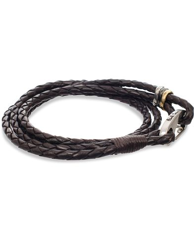 Paul Smith Leather Wrap Bracelet Chocolate  i gruppen Accessoarer / Armband hos Care of Carl (11722210)