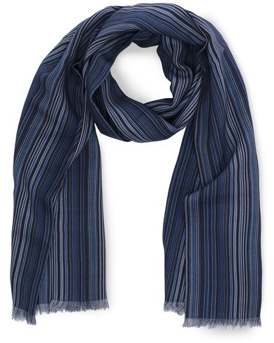 Paul Smith Multi Wool Scarf Sky Blue  i gruppen Design A / Assesoarer / Scarves hos Care of Carl (11722410)