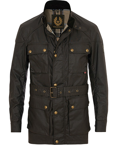 Belstaff Roadmaster Belted Jacket Mahogany Brown i gruppen Tøj / Jakker / Oilskinsjakker hos Care of Carl (11723311r)