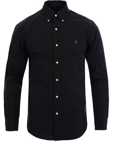 Polo Ralph Lauren Slim Fit Poplin Shirt Polo Black i gruppen Skjortor / Oxfordskjortor hos Care of Carl (11762811r)