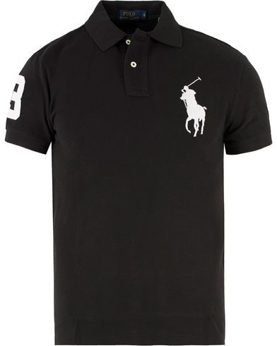 Polo Ralph Lauren Slim Fit Big Pony Polo Black i gruppen Pikéer / Kortärmade pikéer hos Care of Carl (11765211r)