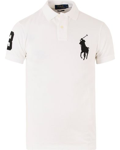 Polo Ralph Lauren Slim Fit Big Pony Polo White i gruppen Design A / Polotrøjer / Kortærmede polotrøjer hos Care of Carl (11765311r)